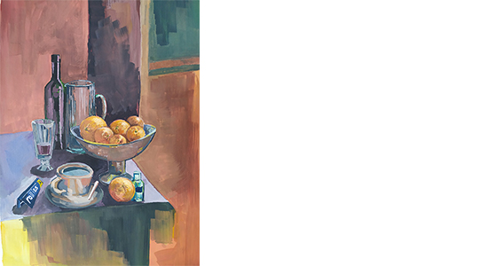 SAM WONG . STILL LIFE WITH ORANGES