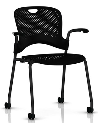 CAPER STACKING CHAIR BY HM $380