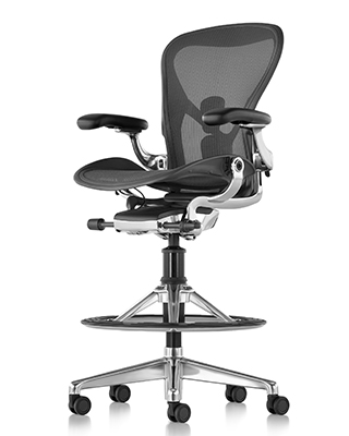 AERON REMASTERED WORK STOOL BY HM