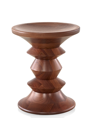 EAMES WALNUT STOOL BY HERMAN MILLER