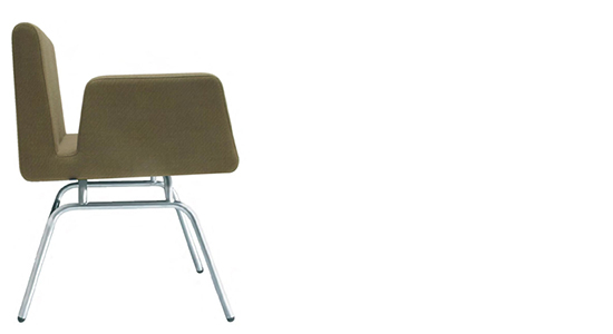 T SERIES 600 ARMCHAIR BY BLUESQUARE