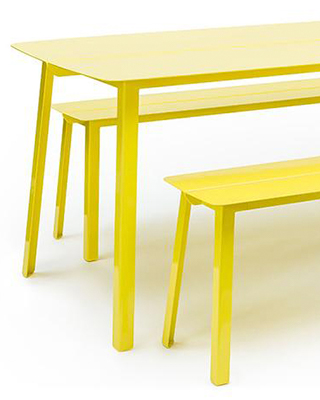 OTIS DINING TABLE & BENCH BY ARKO